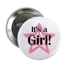 "It's a Girl Star 2.25"" Button (100 pack)"
