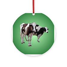 Holstein Cows Ornament (Round)