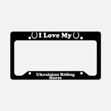 I Love My Ukrainian Riding Horse License Plate Hol