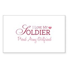Army Girlfriend Rectangle Decal