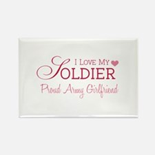 Army Girlfriend Rectangle Magnet