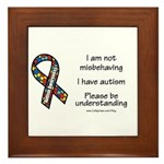 Autism Understanding Framed Tile