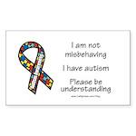 Autism Understanding Rectangle Sticker