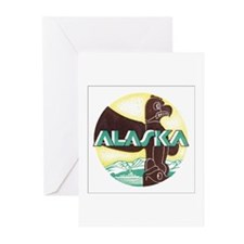 Alaska Poster Greeting Cards (Pk of 10)