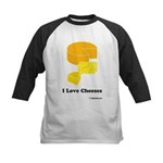 I Love Cheeses Kids Baseball Jersey