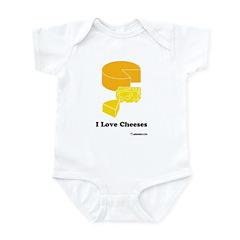 I Love Cheeses Infant Bodysuit