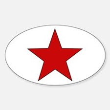 Red Star Oval Decal