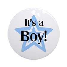 It's a Boy Star Ornament (Round)