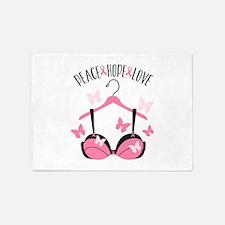 Peace Hope Love 5'x7'Area Rug