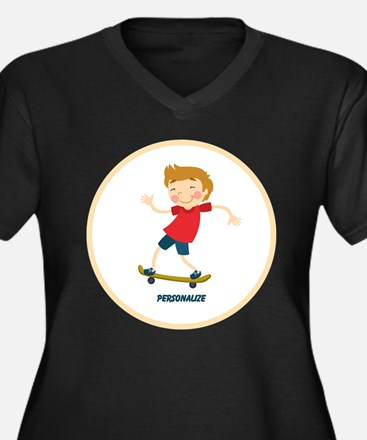 Gifts for Kids Personalized Skating Plus Size T-Sh