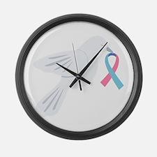 Infertility Awareness Dove Large Wall Clock