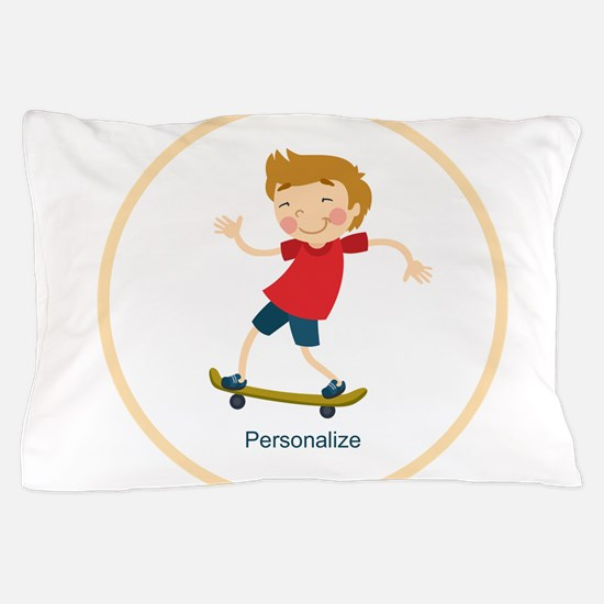 Gifts for Kids Personalized Skating Pillow Case