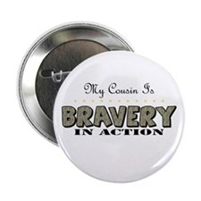 "Cute Proud army cousin 2.25"" Button"