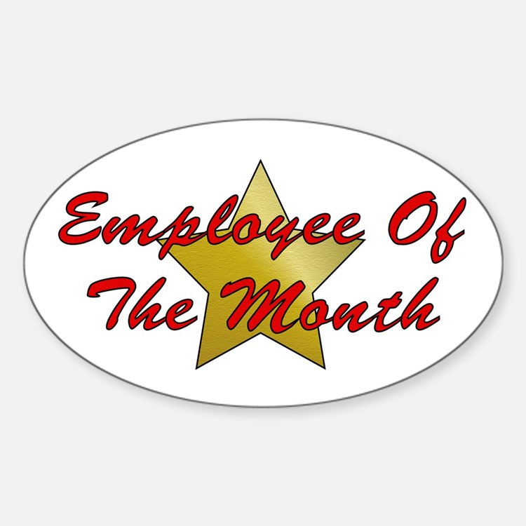 Employee Of The Month Oval Decal