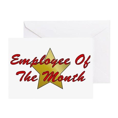 Employee Of The Month Greeting Card