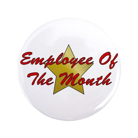 "Employee Of The Month 3.5"" Button (100 pack)"