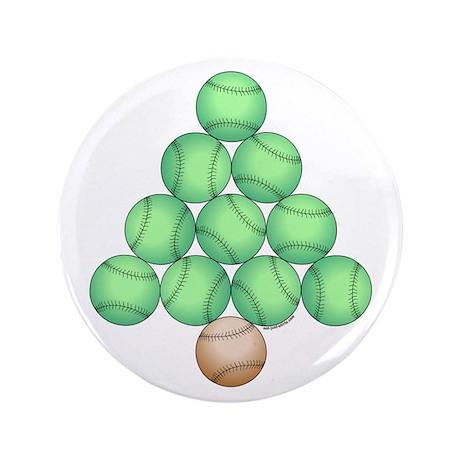 "Baseball Tree 3.5"" Button"