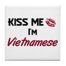 Kiss me I'm Vietnamese Tile Coaster