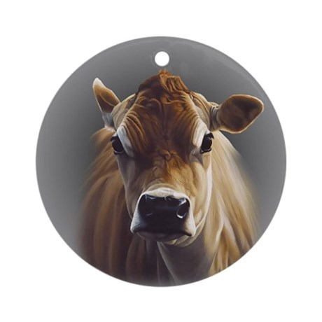 Jersey Cow Ornament (Round)