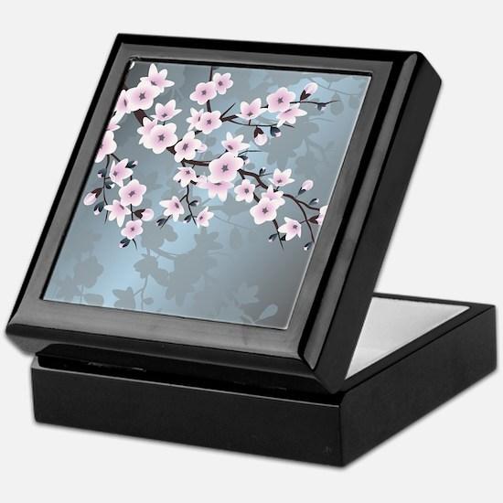 Unique Cherry blossom Keepsake Box