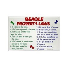Beagle Property Laws 2 Rectangle Magnet