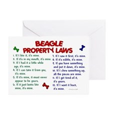 Beagle Property Laws 2 Greeting Cards (Pk of 10)