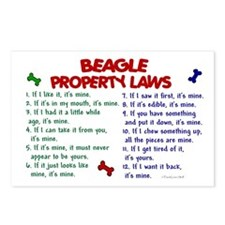 Beagle Property Laws 2 Postcards (Package of 8)