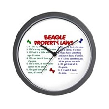 Beagle Property Laws 2 Wall Clock