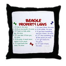 Beagle Property Laws 2 Throw Pillow
