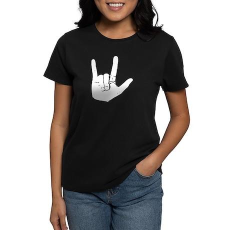 I love you hand Women's Dark T-Shirt