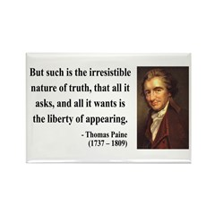 Thomas Paine 5 Rectangle Magnet (100 pack)