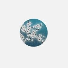 Cool Cherry blossom Mini Button
