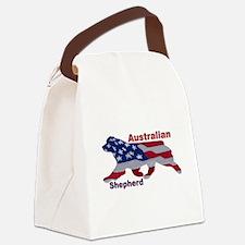 US Flag Aussie Canvas Lunch Bag