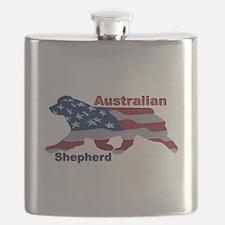 US Flag Aussie Flask
