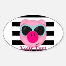 Cool Pink Pig Decal