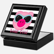Cool Pink Pig Keepsake Box