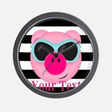 Cool Pink Pig Wall Clock