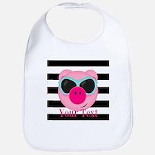 Cool Pink Pig Bib