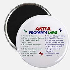 Akita Property Laws 2 Magnet