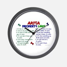 Akita Property Laws 2 Wall Clock