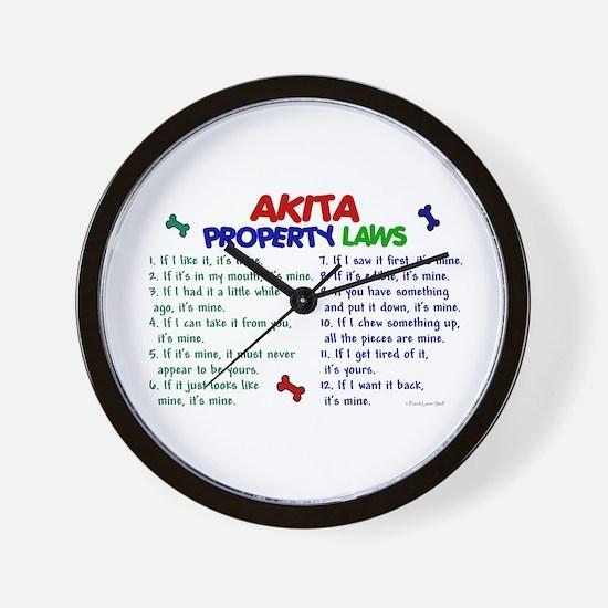 Akita Property Laws 2 Wall Clock