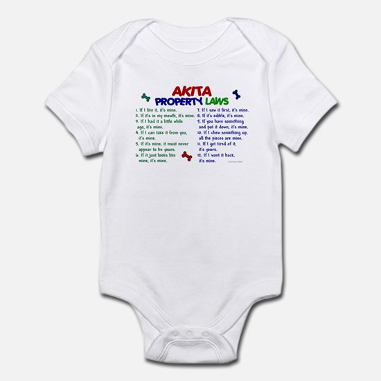 Akita Property Laws 2 Infant Bodysuit