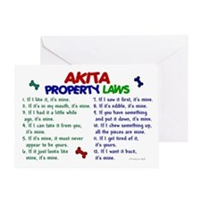 Akita Property Laws 2 Greeting Card
