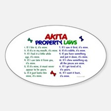Akita Property Laws 2 Oval Decal