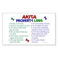 Akita Property Laws 2 Rectangle Bumper Stickers