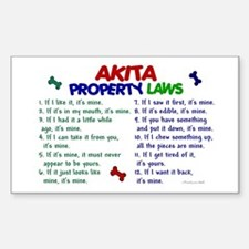 Akita Property Laws 2 Rectangle Decal
