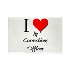 I Love My Corrections Officer Rectangle Magnet