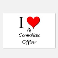 I Love My Corrections Officer Postcards (Package o