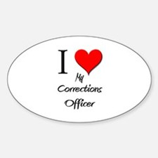 I Love My Corrections Officer Oval Decal