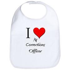 I Love My Corrections Officer Bib